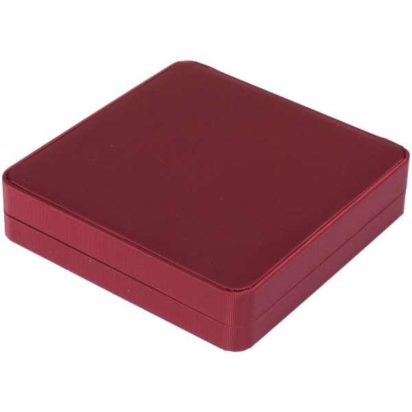 SATIN Neckalce Jewellery Box - Burgundy