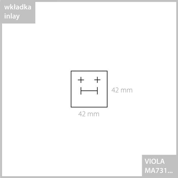 Pudełko VIOLA pierścionek - białe