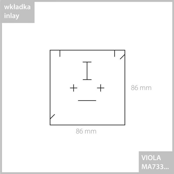 Pudełko VIOLA uniw.duże - grafitowe