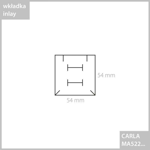 CARLA Small Set Jewellery Box - black