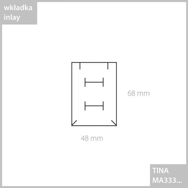 Pudełko TINA uniw.płaskie grafitowe