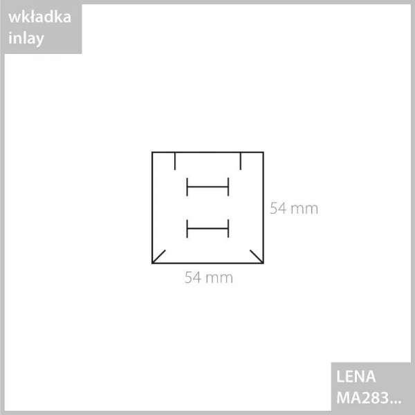 LENA Small set Jewellery Box - Ecru with burgundy ribbon
