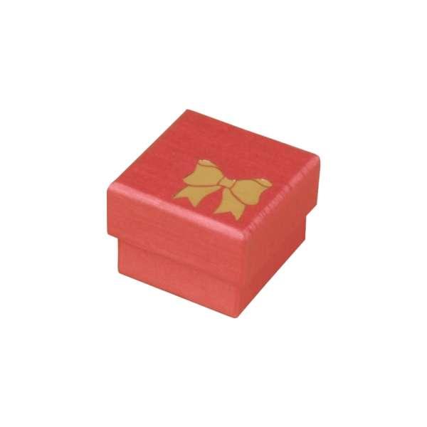 Pudełko TINA kokardka pierścionek bordo