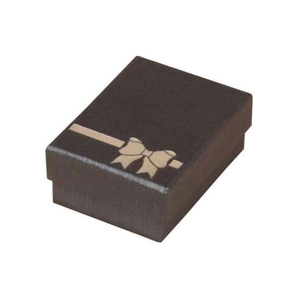 Pudełko TINA kokardka uniw. małe grafitowe