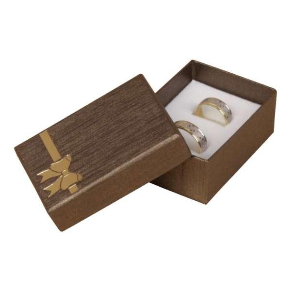 Pudełko TINA kokardka uniw.małe brązowe