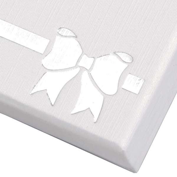 Pudełko TINA kokardka uniw.małe białe