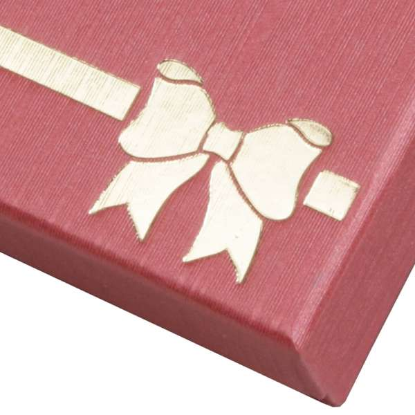 Pudełko TINA kokardka bransoletka bordo