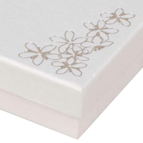 Pudełko TINA kwiatki uniw.małe białe