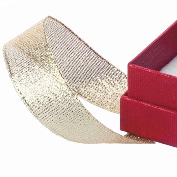 LENA Small set Jewellery Box  - Red with glitter ribbon
