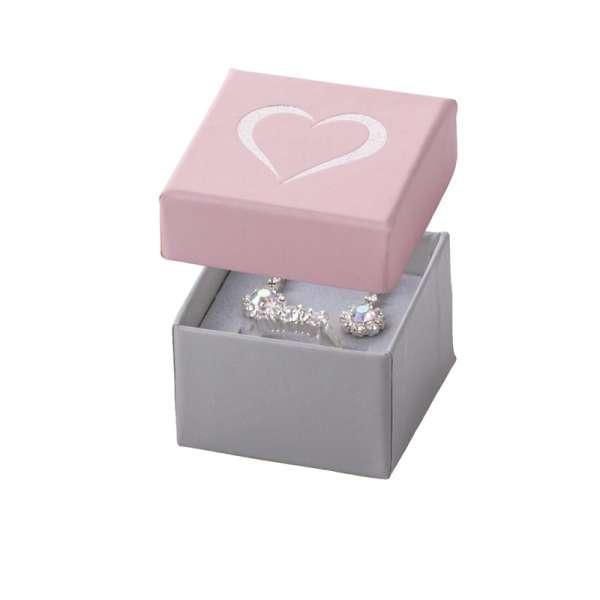 Pudełko SOFIA pierścionek różowe SERCE