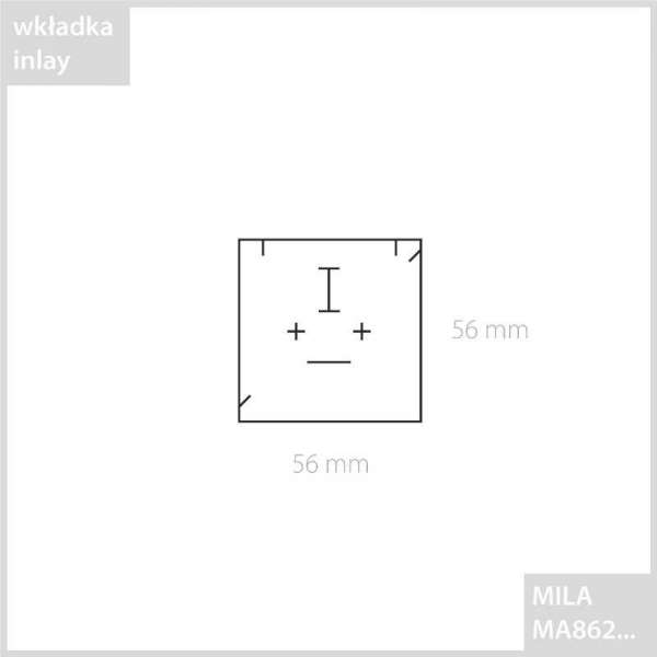 MILA Flat small set box Graphite