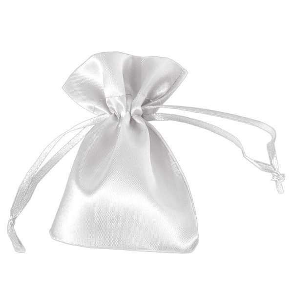 Sakiewka DORIS satynowa 8x10 cm. biała