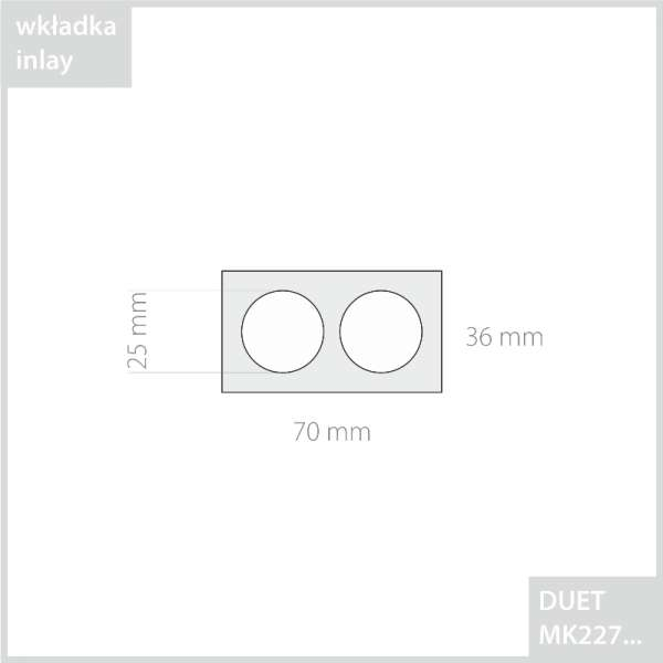 DUET Wedding Rings Jewellery box - Ecru