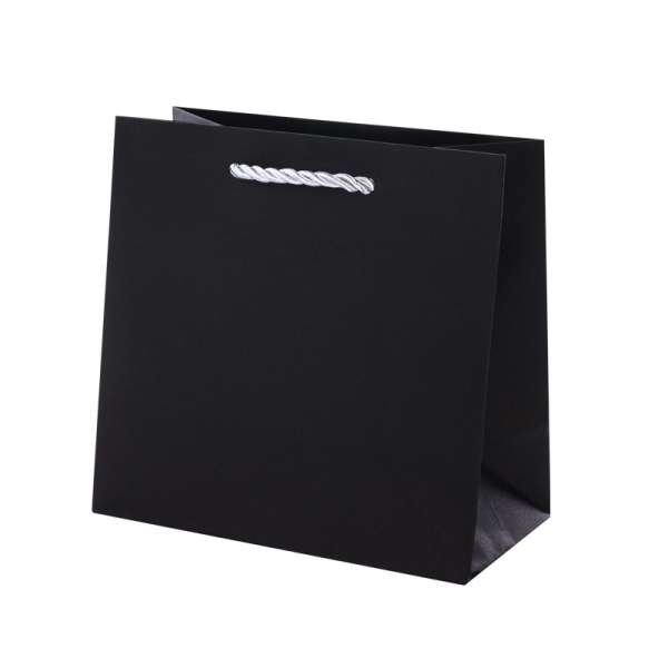 CARLA Paper Bag 150x150x80mm. - black/silver