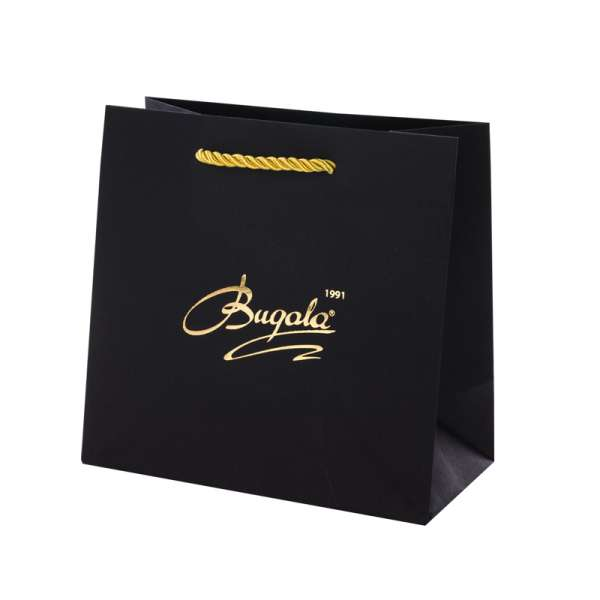CARLA Paper Bag 150x150x80mm. - black/gold