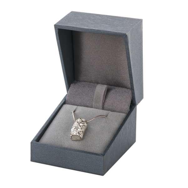 Pudełko DARIA pierścionek/kolczyki/zawieszka grafitowe