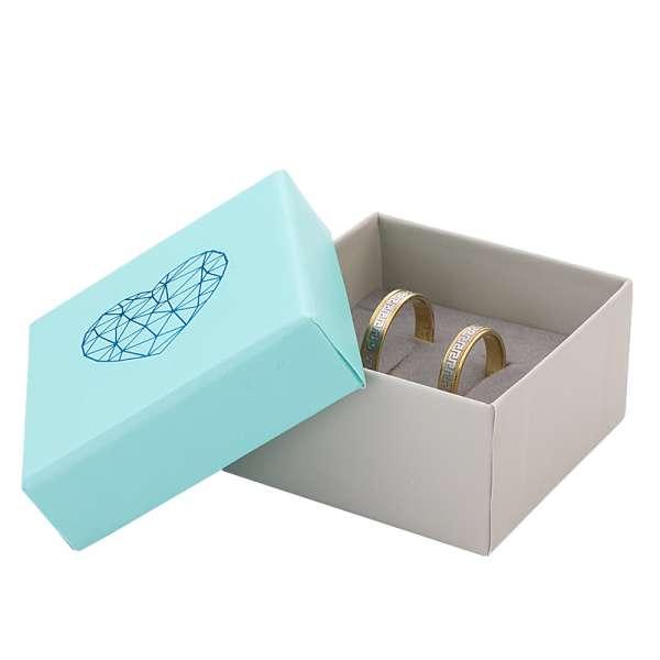 Pudełko SOFIA uniwersalne małe Miętowe SERCE