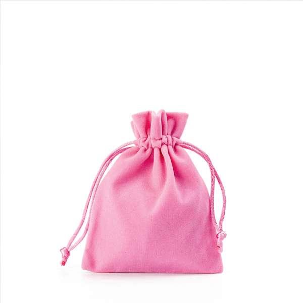 Jewellery Welur Pouch FIONA 8x10 cm. - Pink
