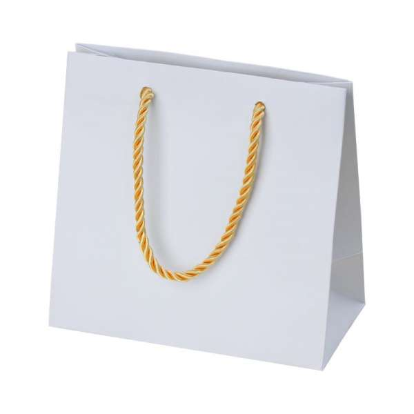 CARLA Paper Bag 150x150x80mm. - white/gold