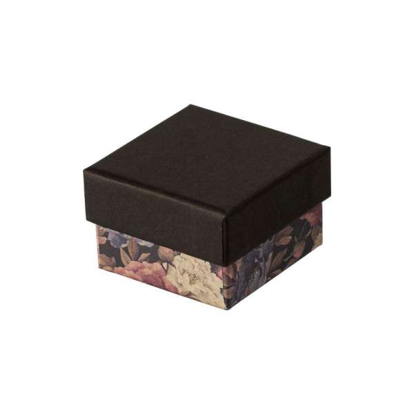 CARLA Ring Jewellery Box - black + flowers