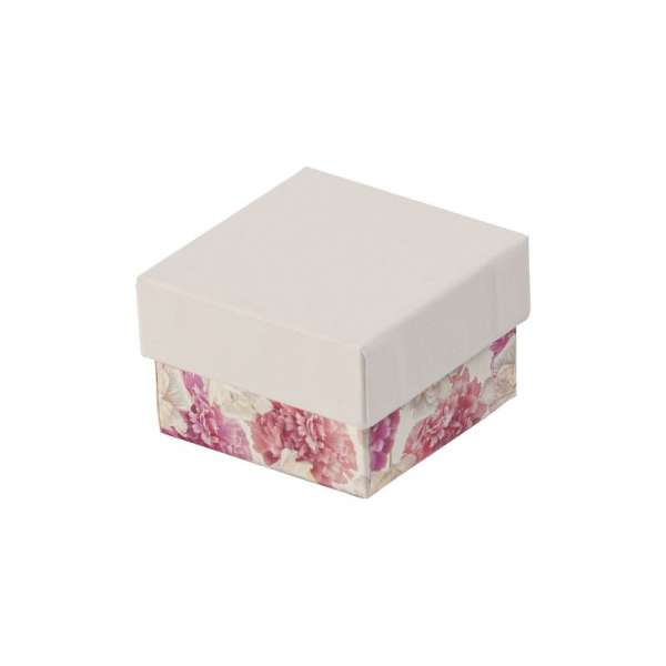 CARLA Ring Jewellery Box - white + flowers