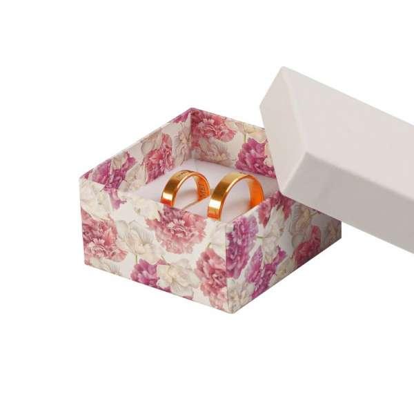 Pudełko CARLA uniwersalne małe białe + kwiaty
