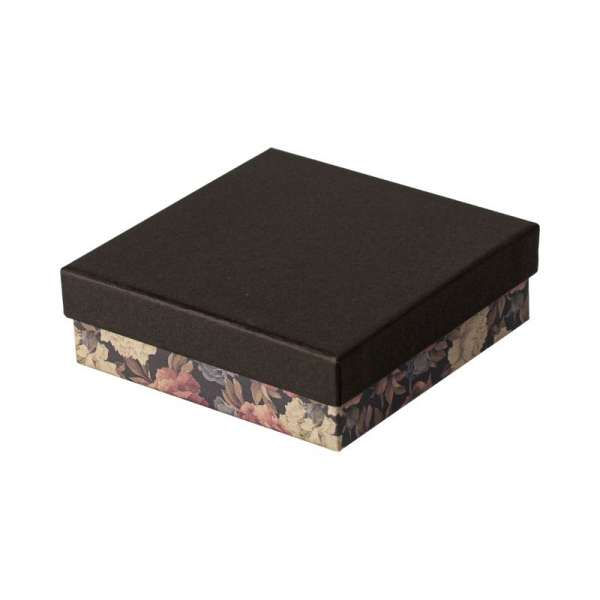 CARLA Big Set Jewellery Box - black + flowers