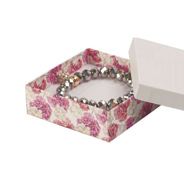 CARLA Big Set Jewellery Box - white + flowers